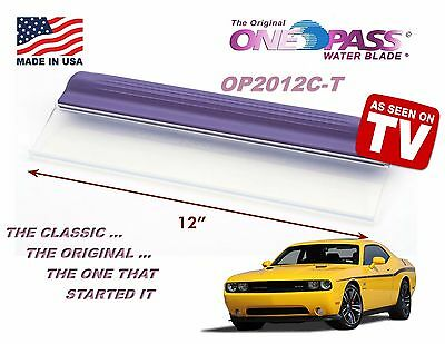 """Original Classic ONE PASS Water Blade! 12"""" Silicone T-Bar Edge, OP2012-C"""