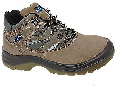Mens Leather Safety Work Lace Up Steel Toe Cap Shoes Hiking Boots Size UK 11