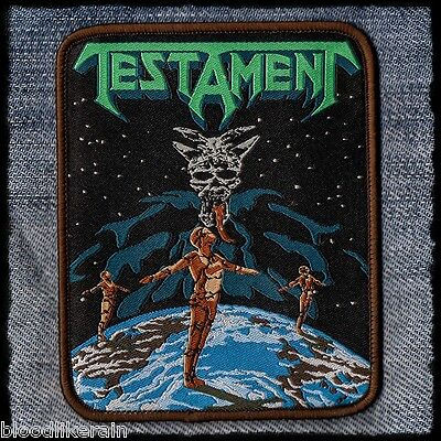 Testament Dark Roots Of Thrash The Legacy New Order woven patch aufnäher rare