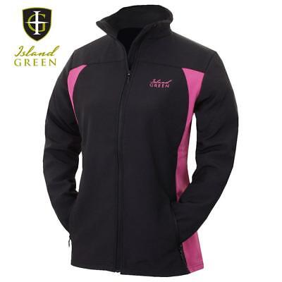Island Green Ladies Thermal Soft Shell Jacket & Breathable! Full Zip , Golf