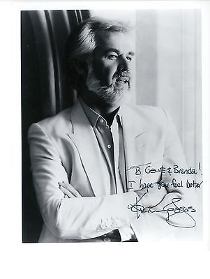 Kenny Rogers  signed photo autograph