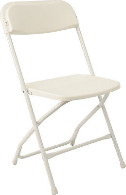 10 Plastic Folding Chairs Commercial White Stackable Wedding Chair SPRING SALE