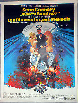 Affiche DIAMANTS SONT ETERNELS Diamonds are Forever JAMES BOND Entoilée 120x160