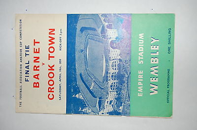1959 F.A. AMATEUR CUP FINAL BARNET v CROOK TOWN VERY GOOD EXAMPLE