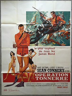 Affiche OPERATION TONNERRE Thunderball SEAN CONNERY Claudine Auger R120x160cm b