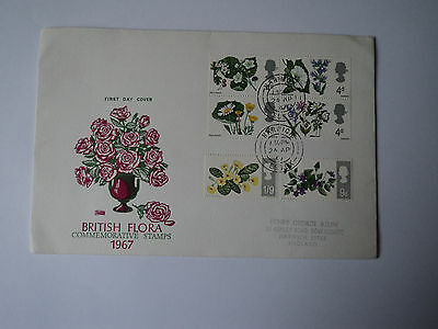 1st day cover: british flora 1967