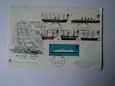 1st day covers: british ships, cutty sark