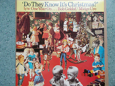 """Band Aid """"Do They Know It's Christmas"""" ?  / b/w One Year On ... 12"""" Vinyl Record"""