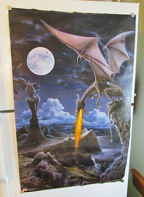 Dragon Attacking Army 1999 Fantasy Wall Poster Starline Meiklejohn Graphics