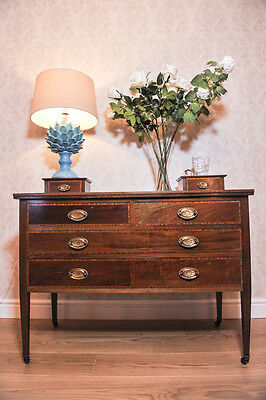 Edwardian mahogany & satinwood dressing chest, with inlaid marquetry - 1900's