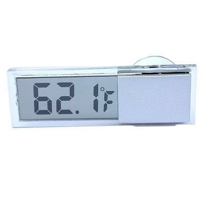 Osculum Type LCD Vehicle-mounted Digital Thermometer Celsius Fahrenheit DM