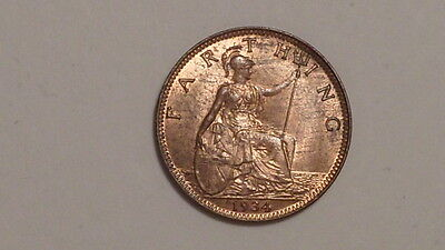 1934 Farthing.George V.1911-1936. UNC.Much Lustre. Scarce.British Milled. #1935.