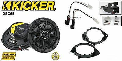 Kicker DSC650 6.5 Speakers + 1 Pair Front / Rear Adapters + Harness For GM