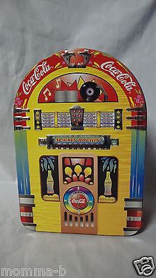 """Coca Cola Collectable Juke Box Shaped """" Always Rockin """" Cookie Candy Tin"""
