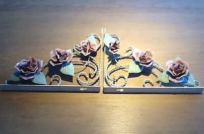 Rose Shelf Brackets Vintage Handmade