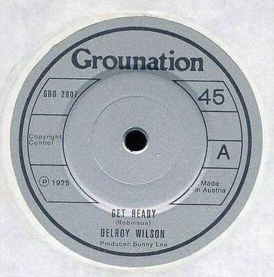 "DELROY WILSON UK 1975 Reggae 7"" Single Grounation GET READY Bunny Lee"