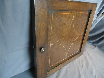 18Th Century Oak, Inlaid  Panel Cupboard Door