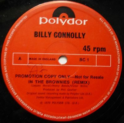 Billy Connolly In The Brownies 12 Inch Promo Polydor 1979