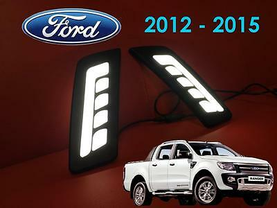 Ford Ranger Pickup 2012 - 2015 T6 Front LED DRL's - Daytime Running Lights - S1