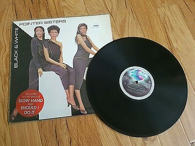"Pointer Sisters - Black and White (1980s Soul 12"" Vinyl LP Record)Good condition"