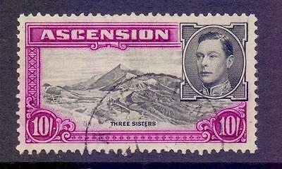 ASCENSION 1938-53 SG47 KGV 10s Black and Purple Fine Used Cat £48