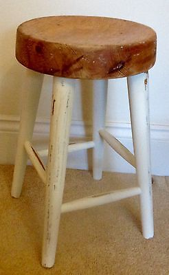 Vintage Small French Farmhouse Style Stool