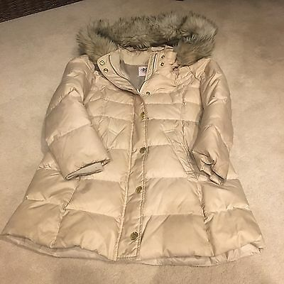 Juicy Couture Girls Down Padded Coat - Cream 8/10 Years
