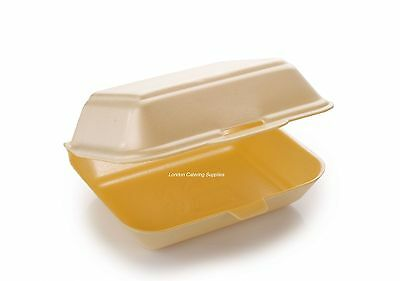 HP2 Polystyrene Disposable Takeaway Food Box Container