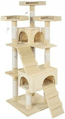 TecTake Cat Scratcher Activity Center High Quality Cat Tree Barney Beige