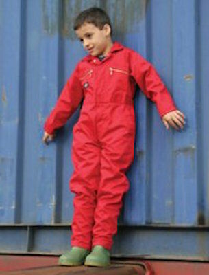 "Dickies Childs Overalls Coveralls Kids Helper  WD4839J 34"" Red"