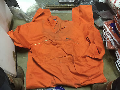 "Bolt ORANGE Eurosuit Overalls Polyester Cotton Boiler Suit 40"" Chest"
