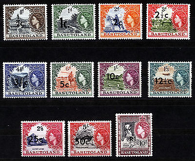 BASUTOLAND 1961 DEFINITIVES SG58/68b MNH