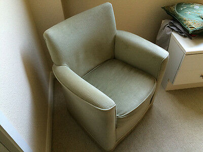 Lovely Grey  Fabric covered Vintage Retro Armchair Good Condition