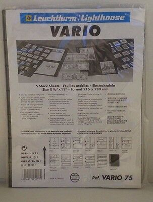 Lighthouse / Vario 7S Package of 5 Stock Sheets 8 1/2 x 11 NEW Double Sided