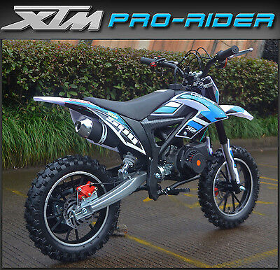 Kids XTM PRO-RIDE 50cc Petrol Dirt Bike - Childs New Mini Motorbike/ Motocross