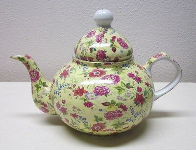 Charlotte      Made In China     Tea Pot        Pink Chintz