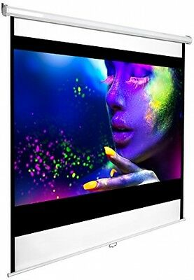 TecTake New HD Projection Screen Home Cinema 16:9 Pull Down - different sizes -