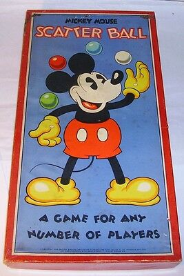 1930's Chad Valley Mickey Mouse Scatter Ball Game