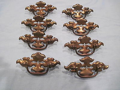 Lot of 8 VINTAGE matching  DRAWER PULLS -