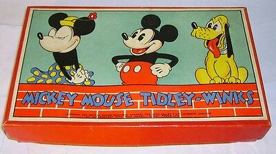 1930's Chad Valley Mickey Mouse Tiddly winks Game Mickey Minnie& Pluto