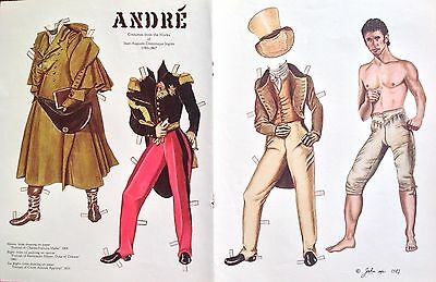 19th Century Andre Paper Doll,1987, By John Axe, Uncut Mag. Paper Doll