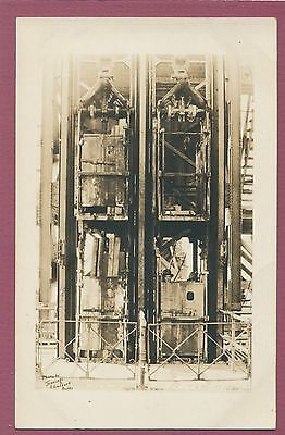 MT. Butte, Mines on Cage, mining postcard, RPPC