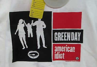 GREEN DAY NEW TEE T-SHIRT HEAVY METAL TOUR LARGE 2004 slight defect