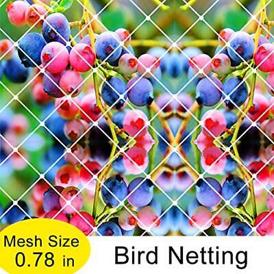 Agfabric Plant Protect Netting, 2pack 25'-W x 50'-L Bird Barrier, White