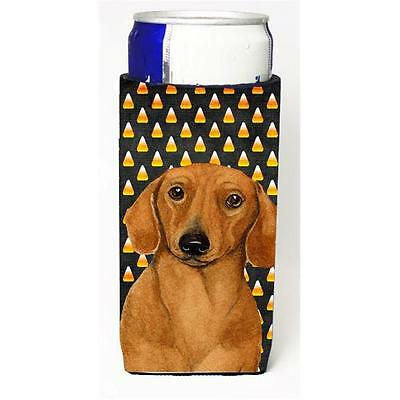 Dachshund Candy Corn Halloween Portrait Michelob Ultra bottle sleeves For Sli...