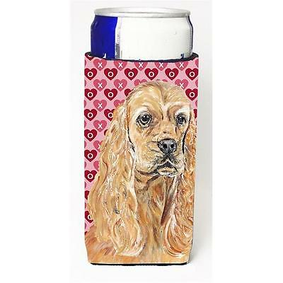 Cocker Spaniel Valentines Love Michelob Ultra bottle sleeves for slim cans 12...