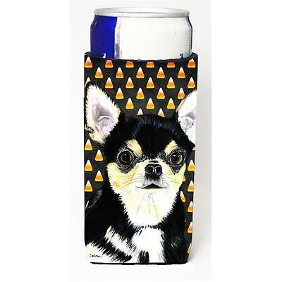 Chihuahua Candy Corn Halloween Portrait Michelob Ultra s For Slim Cans 12 oz.