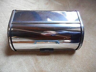 Brabantia Chrome Roll Top Snack Bread Box