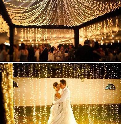 AU STOCK Warm White 20-100M Fairy 600LED Decorative String Light Outdoor Party