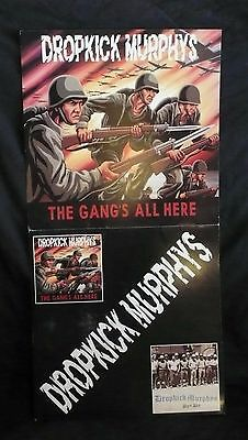 DROPKICK MURPHYS Gang's All Here Album 2 Sided Promo Poster Hellcat Records
